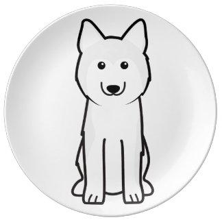 シベリアンハスキー犬の漫画 磁器プレート