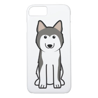 シベリアンハスキー犬の漫画 iPhone 8/7ケース