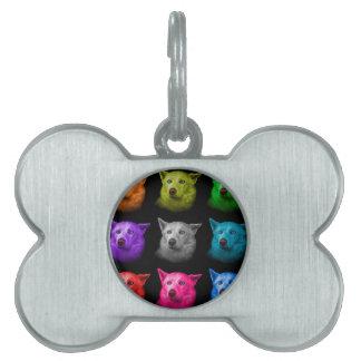 シベリアンハスキー犬の芸術2103のBB ペットネームタグ
