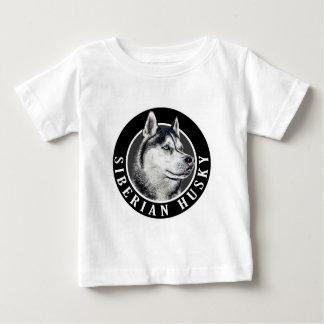 シベリアンハスキー犬002 ベビーTシャツ