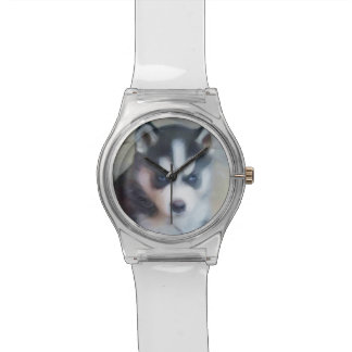 シベリアンハスキー犬 腕時計
