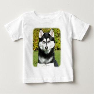 シベリアンハスキー9P046D-49 ベビーTシャツ