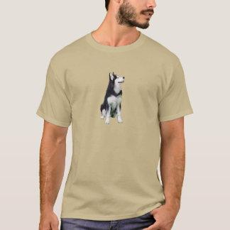 シベリアンハスキー(a) tシャツ