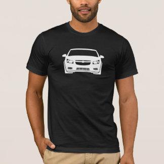 シボレーCruzeの写実的で暗いメンズ Tシャツ