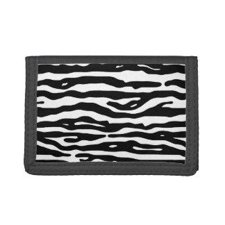 シマウマのアニマルプリントの白黒のストライプパターン