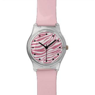 シマウマのグリッターの腕時計 腕時計