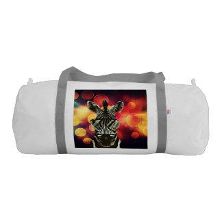 シマウマのスタイルの《写真》ぼけ味の芸術 ジムバッグ