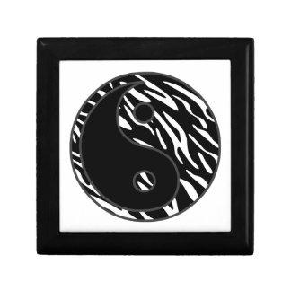 シマウマのストライプな陰陽の記念品箱 ギフトボックス