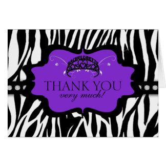 シマウマのバチェロレッテのティアラは感謝していしています カード