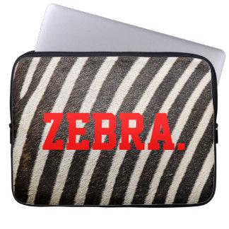 """シマウマのパターン(の模様が)あるなラップトップスリーブ13"""" (ZebraSkin) ラップトップスリーブ"""
