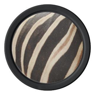 シマウマのプリントのポーカー用のチップ ポーカーチップ
