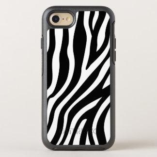 シマウマのプリントの白黒ストライプパターン オッターボックスシンメトリーiPhone 8/7 ケース