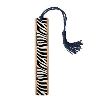シマウマのプリントの白黒ストライプパターン ブックマーク