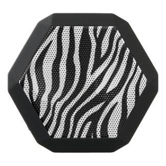 シマウマのプリントの白黒ストライプパターン ブラックBluetoothスピーカー