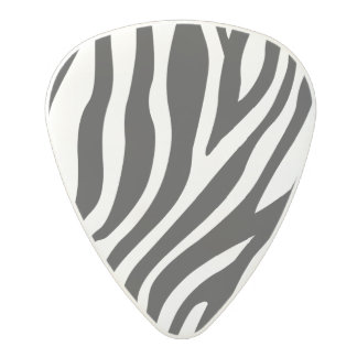 シマウマのプリントの白黒ストライプパターン ポリカーボネートギターピック