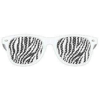 シマウマのプリントの白黒ストライプパターン レトロサングラス