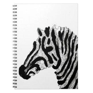シマウマのプリントの白黒ストライプ ノートブック