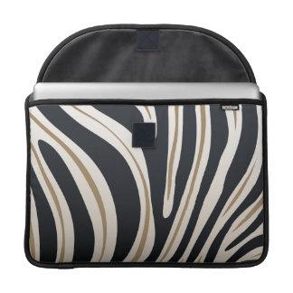 シマウマのプリントの袖 MacBook PROスリーブ
