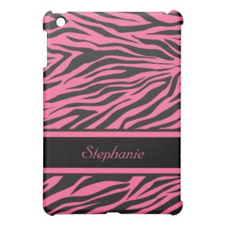 シマウマのプリントのiPad Miniピンクのカバー iPad Miniカバー