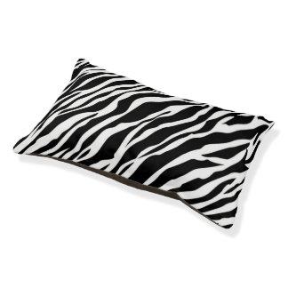 シマウマのプリント犬のベッド