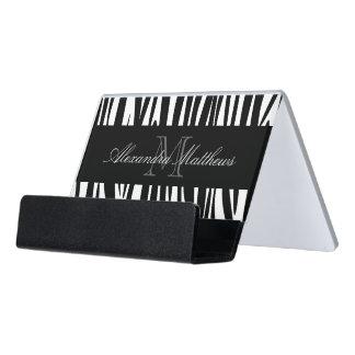 シマウマのプリント デスク名刺ホルダー