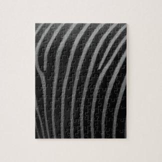 シマウマの模造のな毛皮のギフト ジグソーパズル