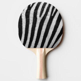 シマウマの白黒ストライプのな皮の質Templat 卓球ラケット
