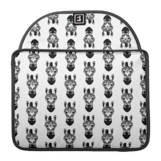シマウマの白黒パターン MacBook PROスリーブ