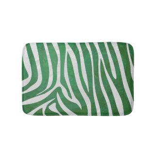 シマウマの緑および白写真 バスマット