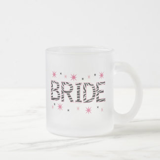 シマウマの花嫁 フロストグラスマグカップ