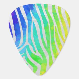 シマウマの虹および白写真 ギターピック