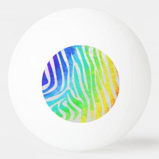 シマウマの虹および白写真 卓球ボール