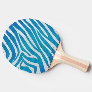 シマウマの青および白写真 卓球ラケット