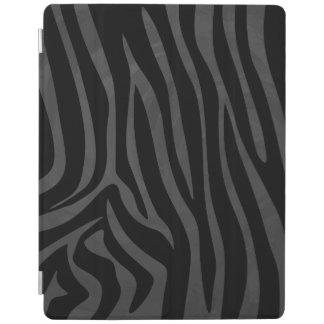 シマウマの黒いおよび灰色のプリント iPadスマートカバー