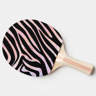 シマウマの黒く、ピンクのプリント 卓球ラケット