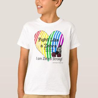 シマウマのEhlers-Danlosの認識度(子供)のような戦い Tシャツ
