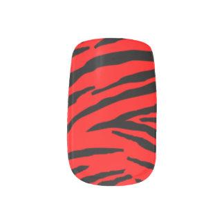 シマウマのMinx®の赤いネイルシール ネイルアート