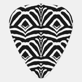 シマウマは縞で飾りますも! (黒く及び白いデザインの) ~ ギターピック