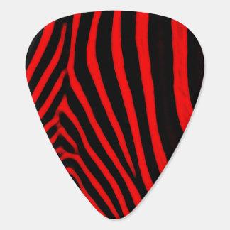 シマウマは赤を縞で飾ります ギターピック