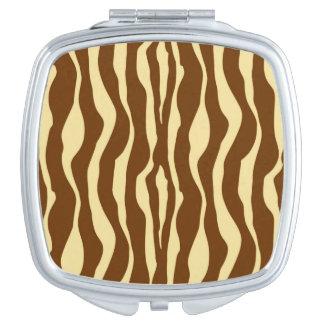 シマウマは-タンチョコレート色およびラクダ縞で飾ります