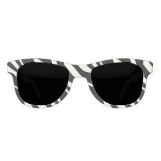 シマウマは-白黒を縞で飾ります サングラス