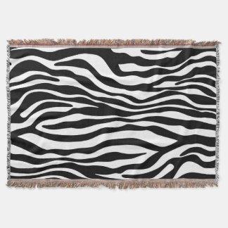 シマウマストライプなパターン黒及び白 + あなたのアイディア スローブランケット