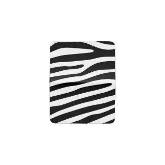シマウマストライプなパターン黒及び白 + あなたのアイディア 名刺入れ