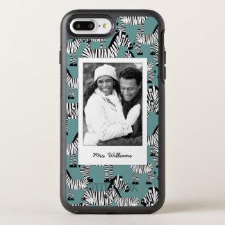 シマウマパターン|はあなたの写真を加えましたり及び示します オッターボックスシンメトリーiPhone 8 PLUS/7 PLUSケース