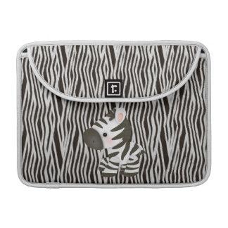 シマウマ及び質のアニマルプリントのMacBookの袖 MacBook Proスリーブ