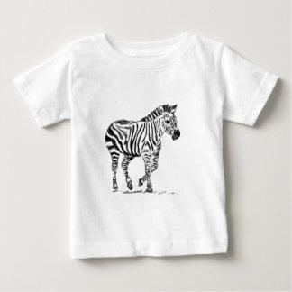 シマウマ ベビーTシャツ