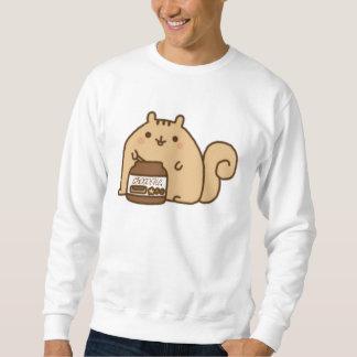 シマリスの食べ物チョコレート♥ スウェットシャツ