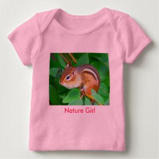 シマリスのonsie、自然の女の子 ベビーTシャツ