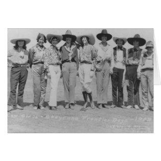 シャイエンヌのフロンティアの日、1929.の女性のカーボーイ カード