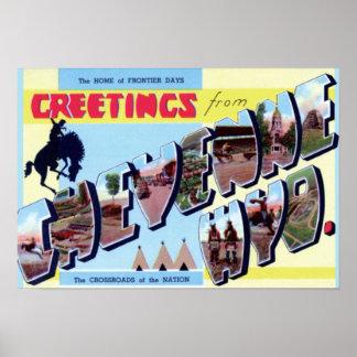 シャイエンヌワイオミングのヴィンテージの観光事業1950年 ポスター